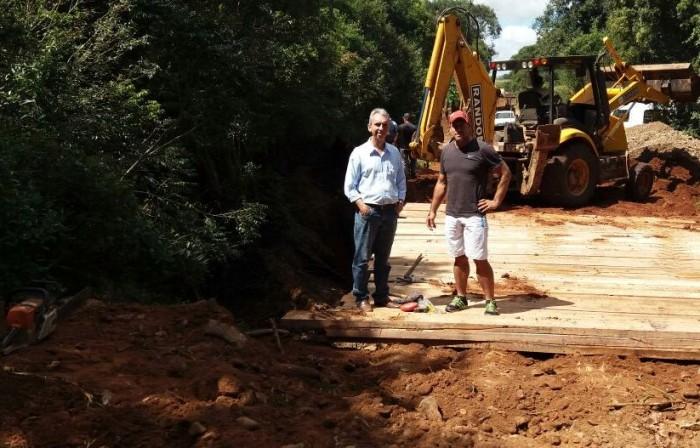 Nova ponte no Rincão da Lagoa