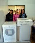 Gabinete da Primeira Dama recebe maquinário para lavanderia