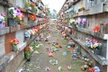 Temporal causa estragos no Cemitério Municipal