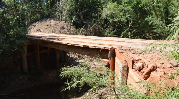 Obras conclui ponte nova na Boa Vista